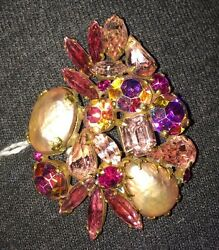 Vintage Weiss Brooch With Clip-on Earrings