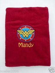 Embroidered Wonder Woman DC Comics Personalized Beach Towel $29.99