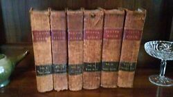 Antique Family Holy Bible Scottand039s 6 Volume Set Dated 1830