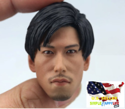 1/6 Asian Male Head Sculpt Young Dangerous For Phicen 12 Figure Hot Toys ❶usa❶
