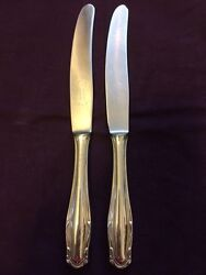 Rostfrei 800 Silver 2 Knives Solid Silver Handle.-573