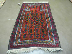 3and039 X 5and039 Antique Hand Made Pakistan Turkoman Balouch Bokhara Wool Rug Carpet