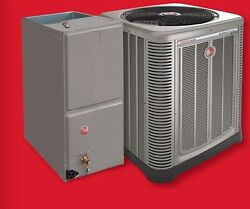 RHEEM 14 SEER 4 TON CENTRAL AIR CONDENSING UNIT FURNACE AND  COIL 410A