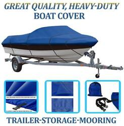 Blue Boat Cover Fits Glastron 187 / Ssv187 O/b 1985 1986 1987 1988