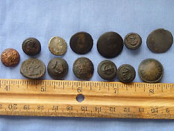 British Dug Buttons Mix With Civilian Buttons Revolutionary And Maybe Civil War