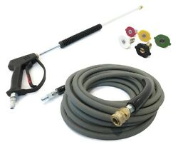 Deluxe Spray Gun, Wand, 50' Hose Non-marking And Tips Power Pressure Washer 4000