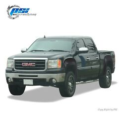 Black Paintable OE Style Fender Flares 07 13 GMC Sierra 1500 Short Bed 69.3 Only