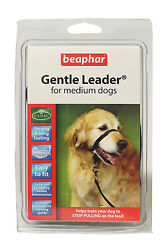 Beaphar Gentle Leader Head Collar Stop Your Dog Pulling in Black 3 Sizes S M L