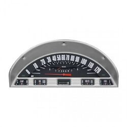 Ford F-100 Pickup Truck Gauge / Gage Cluster Black Style 1956
