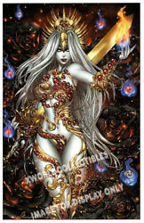 Lady Death - Inferno Art Print - Extinction And Signed And Brian Pulido