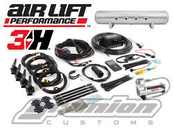 Air Lift 3h Digital Suspension Kit 3/8 Free Billet Arms 444c 5 Gallon Tank Bag