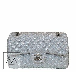 Chanel Small Double Flap Bag Silver Limited Edition - 100% Authentic