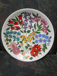 Kalocsa Hand Painted Porcelain Decorated Beautiful Wall Plate 9 1/2
