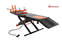 Apluslift 1500lb Air Operated Motorcycle Atv Lift Table Mt1500, No Side Ext.