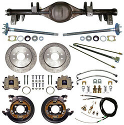 Currie 65-70 Impala Rear End And Drilled Disc Brakes,lines,e-brake Cables,axles,++