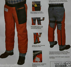 Elvex Chainsaw Safety Pants 36 Inch Zipper Chaps Prochaps Protective Shaps