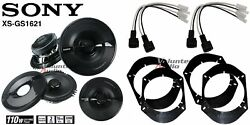 2 Pair Sony Xsgs1621 6.5 Speakers + Front / Rear Adapters + Harness