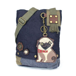 Chala Handbag Canvas Messenger (Denim Blue) + Your favorites Puppy's KeyFob  $45.50