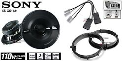Sony Xsgs1621 6.5 Speakers + 1 Pair Front Adapters + Harness For Honda