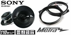 Sony Xsgs1621 6.5 Speakers + 1 Pair Front Adapters For Mini Cooper