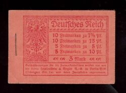 Germany Michel Mh9.2a Vf Mint Scarce Complete Booklet 1917 - 1918