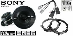 Sony Xsgs1621 6.5 Speakers + 1 Pair Front / Rear Adapters + Harness For Honda