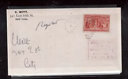 Usa 241 Vf Used On Registered Cover