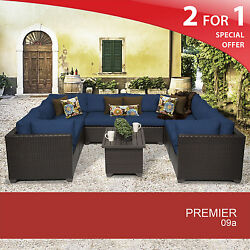 Premier 9 Piece Outdoor Wicker Patio Set 09a 2 for 1
