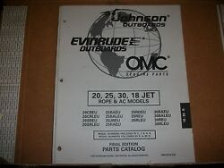 Evinrude Outboard Motor Boat Engine 20, 52, 30, 18 Jet Rope And Ac Illust. Parts