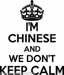 Chinese Wall Sticker... 20 Inches Tall We Don't Keep Calm Vinyl Wall Art Decor