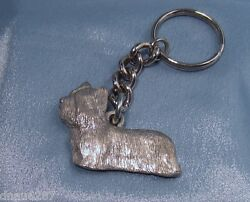 Skye Terrier Key Chain Fine Pewter by GG Harris