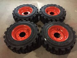 4 NEW 12-16.5 Carlisle Guard Dog Tires WheelsRims for Bobcat-12X16.5-HEAVY DUTY