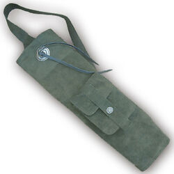 Carol Traditional Suede Leather Back Arrow Quiver Aq150s Olive Green