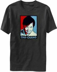 Adult Mens Charcoal Community Red White And Blue Cha-chang Poster T-shirt Tee