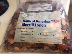 60 Worth Bulk Lincoln Penny 3 Collection Fillers Machine Sorted 1982-current