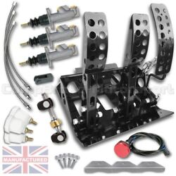 Fits Bmw E36 Remote Hydraulic Floor Mounted Pedal Box Cmb1283-hyd-kit-lines