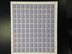Canada J8 Vf/nh Plate 1 Sheet Of 100