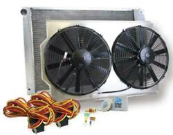 Griffin Radiator And Electric Fans Chevy B Body W Ls Manual Trans Cu-00016-ls