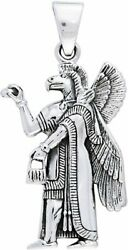 Jewelry Trends Sterling Silver Nisroch Assyrian God Of Agriculture Pendant On Ch