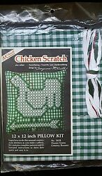 MCNEILL CROSS STITCH CHICKEN SCRATCH HUNTER GREEN COUNTRY ROOSTER 5418 UNOPENED