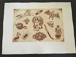 Dr. Lakra - Mod. 4 - Rare Hand Signed And Numbered Original Etching Made In 2008