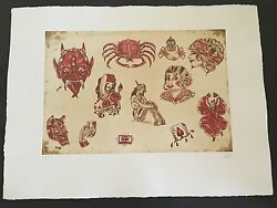 Dr. Lakra - Mod. 7 - Rare Hand Signed And Numbered Original Etching Made In 2008