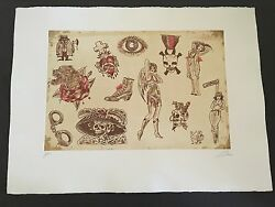 Dr. Lakra - Mod. 8 - Rare Hand Signed And Numbered Original Etching Made In 2008