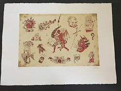 Dr. Lakra - Mod. 9 - Rare Hand Signed And Numbered Original Etching Made In 2008