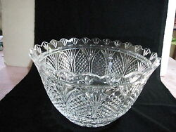 Stunning Waterford Centerpiece Bowl 7h 12w Etched+foil Excellent Condition
