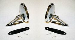 New 1965 - 1966 Mustang Chrome Outside Mirror Right And Left Side Pair Mirrors