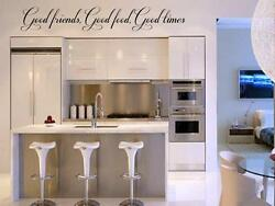 Good Friends Food Times Wall Lettering Words Sticker Quote Decal Sticky Ktichen