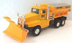 Snow Plow Salt Truck 6 Diecast Metal Model With Swivel Plow Toy Boys And Girls