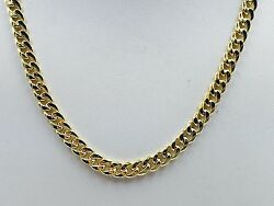 14k Yellow Gold Miami Cuban Curb Link 23 5mm 23 Grams Chain Necklace Hmc150