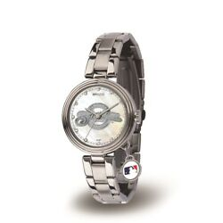 Milwaukee Mlb Baseball Brewers Charm Watch With Stainless Steel Band
